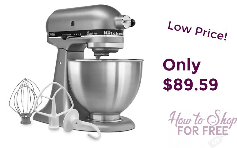 KitchenAid Stand Mixer Only $89.59 Shipped!