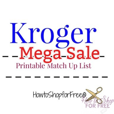 Kroger – May 9 – May 22 Mega Event