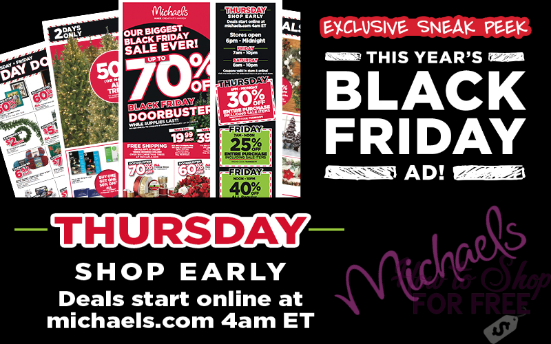 Michael's Black Friday Early Access!!!!
