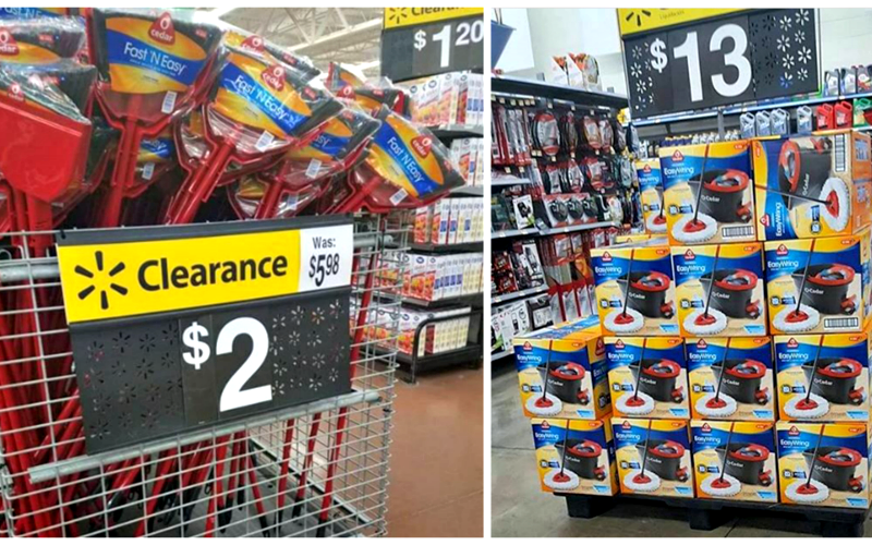 O-Cedar Mop Systems for $8… Brooms for $2!! Clean-Up with Clearance!!