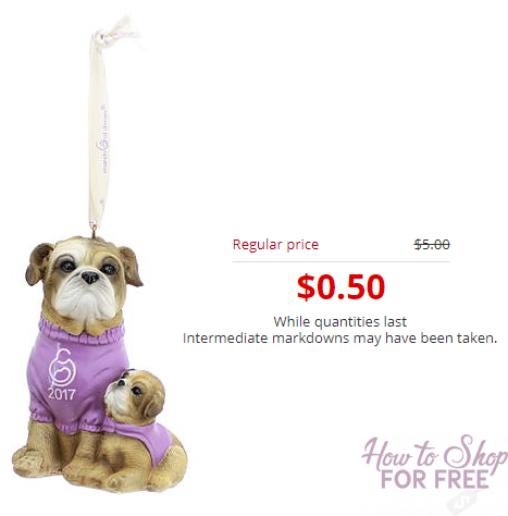 WOW! March of Dimes Collectible Dog Ornament 2017 Only $.50!!