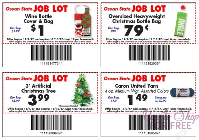 NEW Job Lot Coupons start today!!!