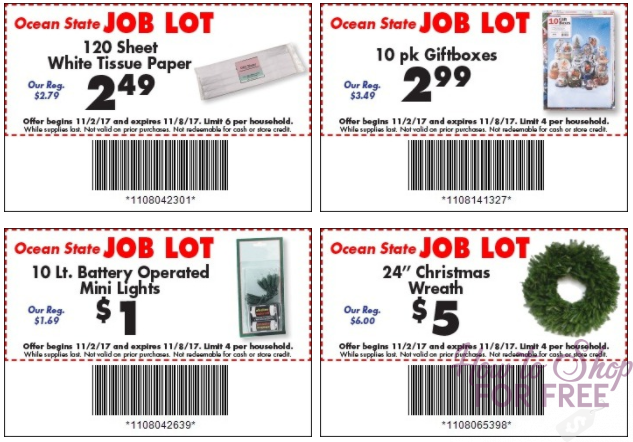 NEW Job Lot Store Coupons + Matchups! (11/2-8)