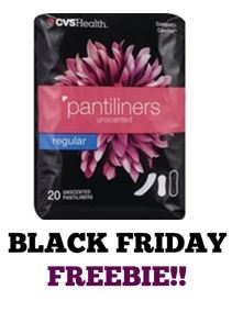 FREE Pantiliners at CVS! ~ Black Friday FREEBIE!