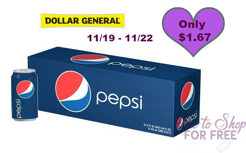 Wow! Pepsi or Mountain Dew 12 Packs Only $1.67!