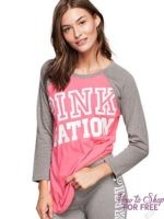Victoria's Secret: GYM PANT, BASEBALL TEE, AND TOTE FOR $40 (FREE SHIPPING!)