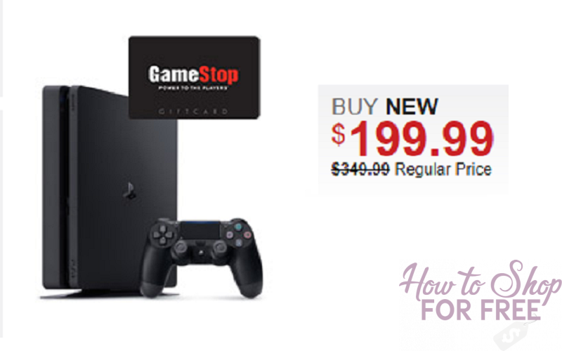 PlayStation 4 1TB System Only $199.99 + $50 GameStop Gift Card!