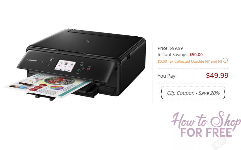 Give the Gift of Coupons! Canon PIXMA Wireless Printer Only $39.99 Shipped!