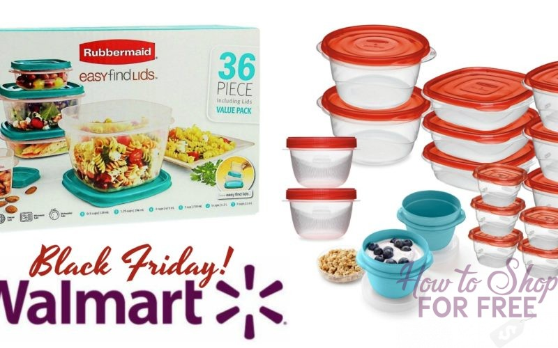 36pc. Rubbermaid Food Storage Sets ONLY $7.60 for Black Friday!