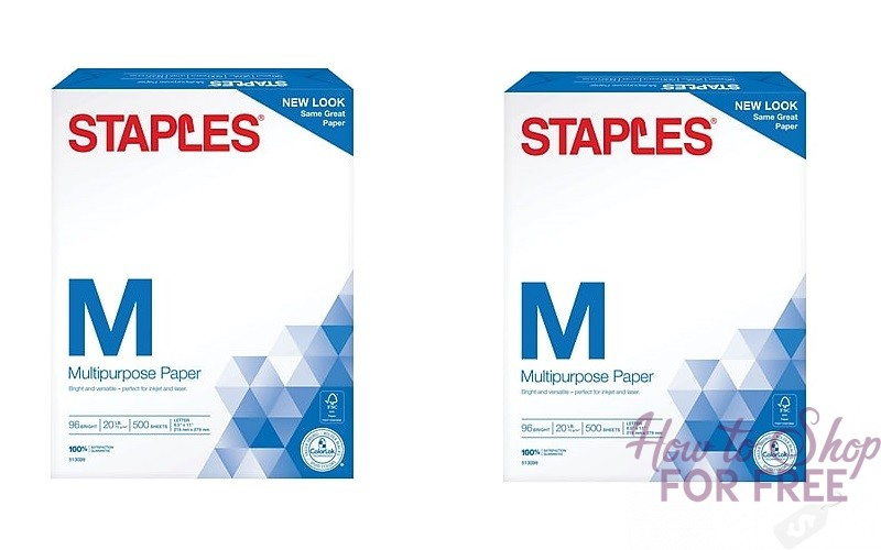 NEW 01¢ Printer Paper Deal this week at Staples!!