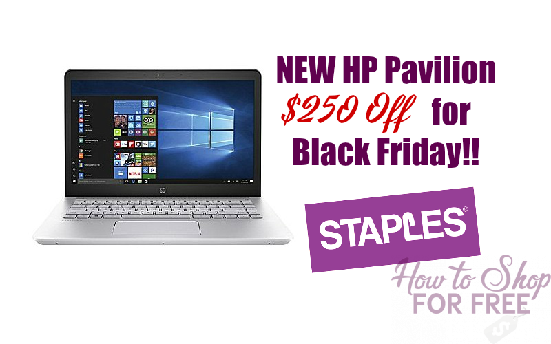 $250 OFF the NEW HP Pavilion Laptop ~Black Friday