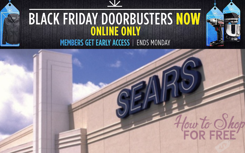 Sears Black Friday Doorbusters Are Online NOW Thru Monday!