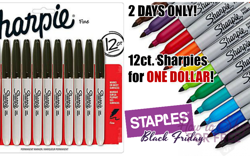 12ct. Sharpies for $1.00!!! (11/24-25 ONLY)