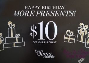 graphic about Soma Printable Coupon named Absolutely free $10 upon your Birthday against Soma! How towards Keep For Free of charge