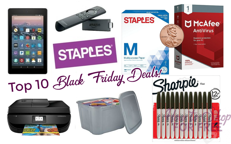 Top 10 Deals at Staples this Black Friday!!!