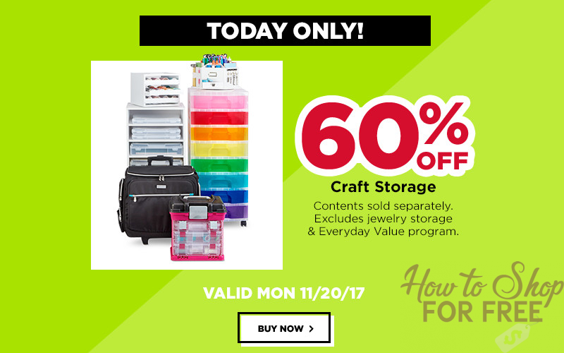Craft Storage 60% OFF~ Today Only!! (In-store & Online!)