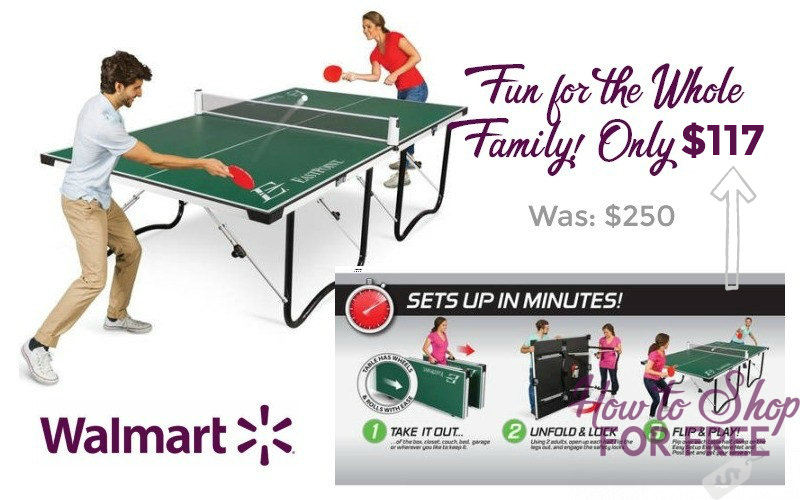 Table Tennis Table ONLY $117!! #CyberMonday Deal