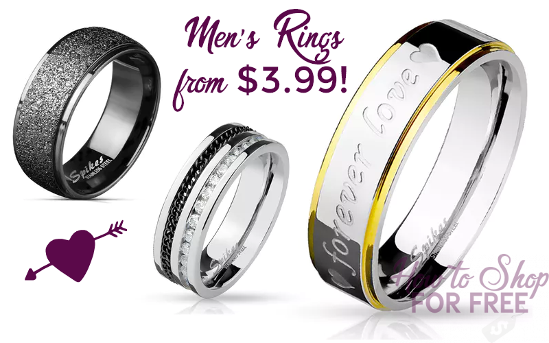 Men's Rings from $3.99!!! (Stainless Steel, Titanium & more)