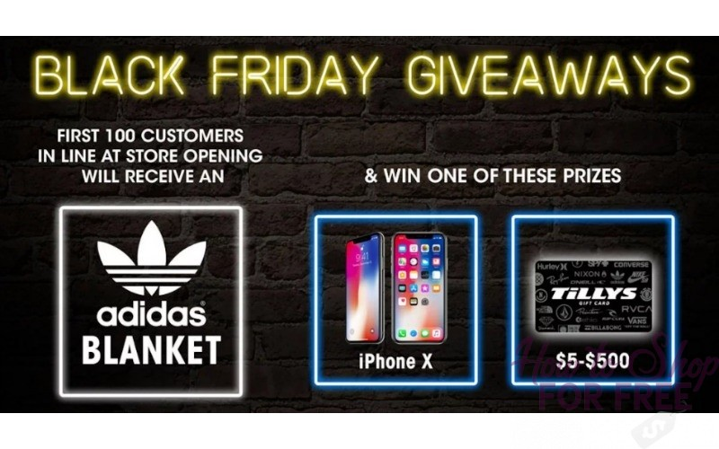 Black Friday FREEBIES at Tilly's!! (FREE iPhone?! WOW)