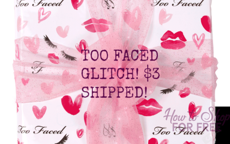 TOO FACED GLITCH: 2 SAMPLES +GIFT WRAP FOR $2.40 SHIPPED!