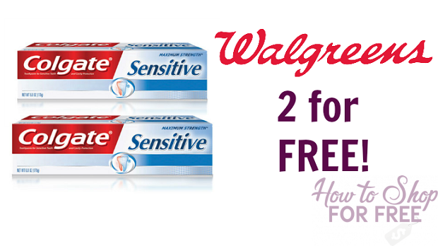 Free Colgate Sensitive Toothpaste at Walgreen's