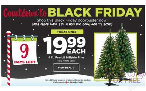 theres still plenty of time to pick up a fab new christmas tree and this countdown to black friday deal from michaels and michaelscom is too hot to pass - Black Friday Deals On Christmas Trees