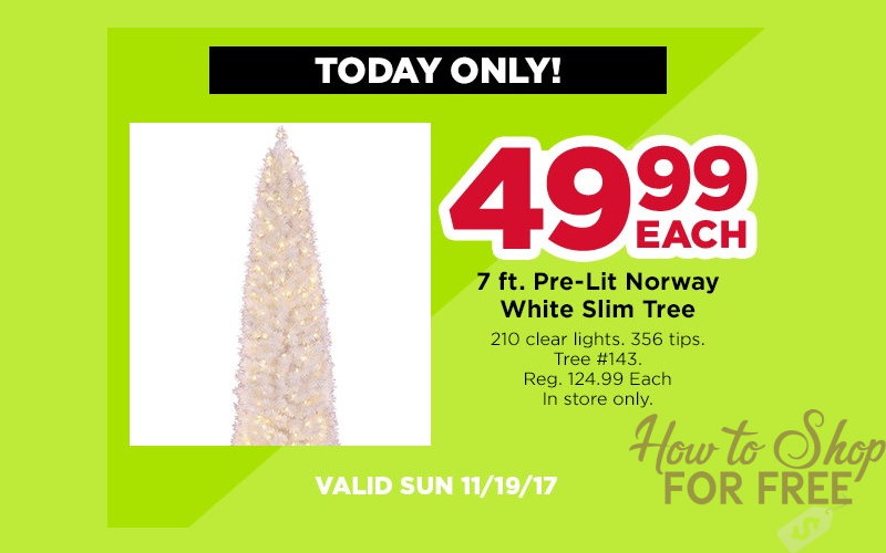 Today Only~ 7ft. White Christmas Tree 60% OFF!!!