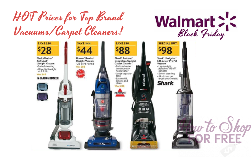 Vacuums/Carpet Cleaners from $28!! ~Walmart Black Friday