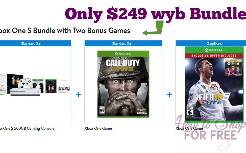 Xbox One S & 2 Games, 40% OFF wyb Bundle! Ships FREE!