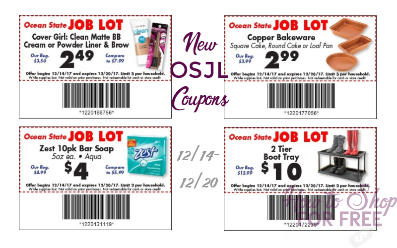 NEW Ocean State Job Lot Store Coupons! (12/14-20)