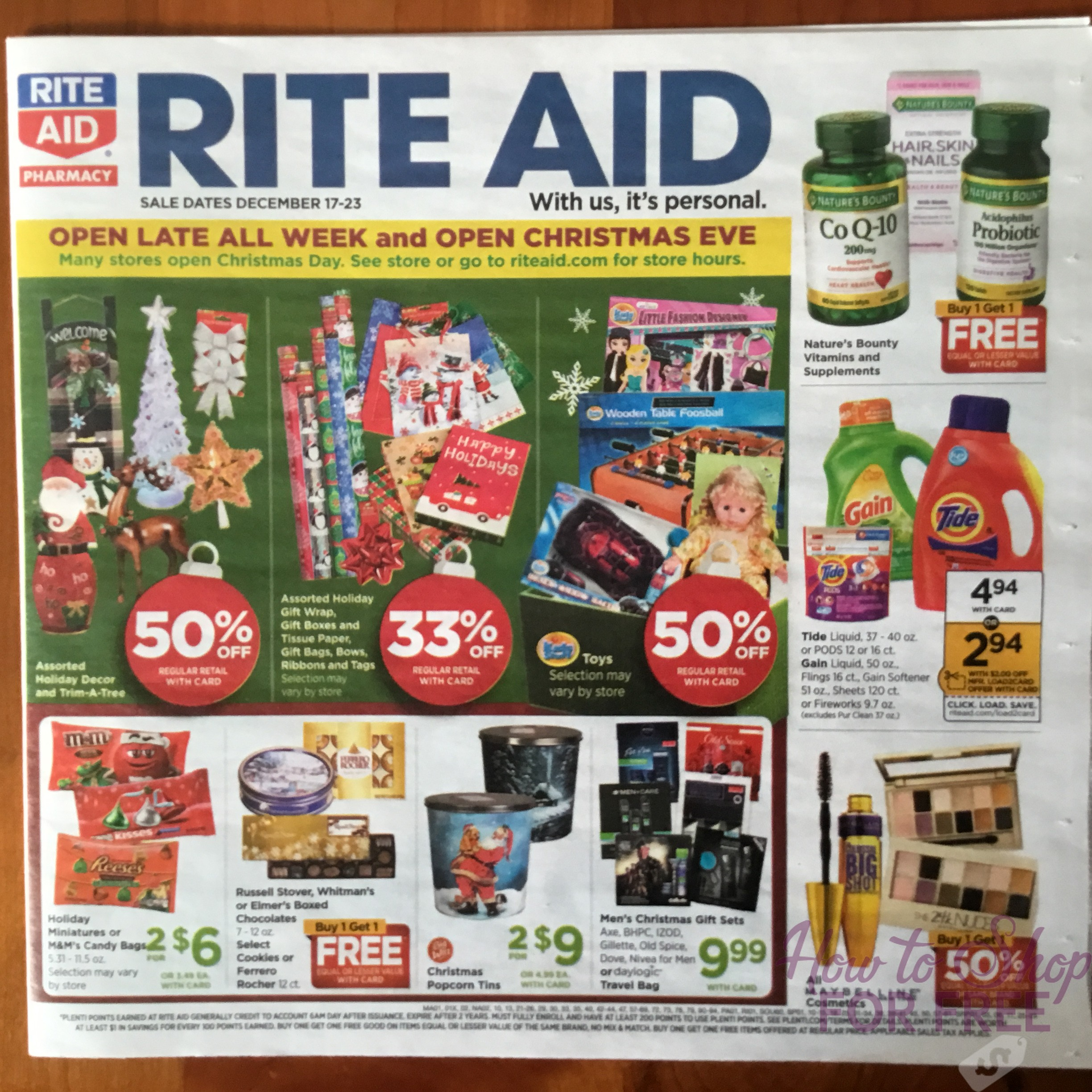Rite Aid Christmas Hours.Rite Aid Ad Scan 12 17 12 23 How To Shop For Free With