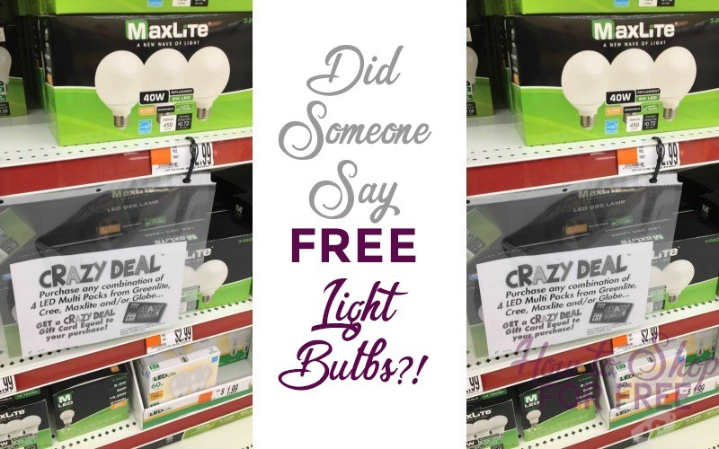 Stock up on FREE LIGHT BULBS!!