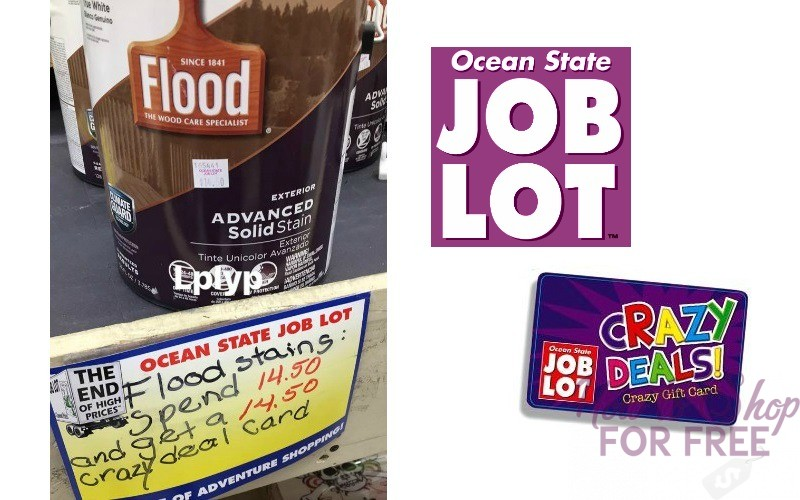 FREE Flood Wood Stains at Job Lot!!