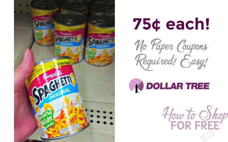 SpaghettiOs ONLY 75¢ at Dollar Tree!!