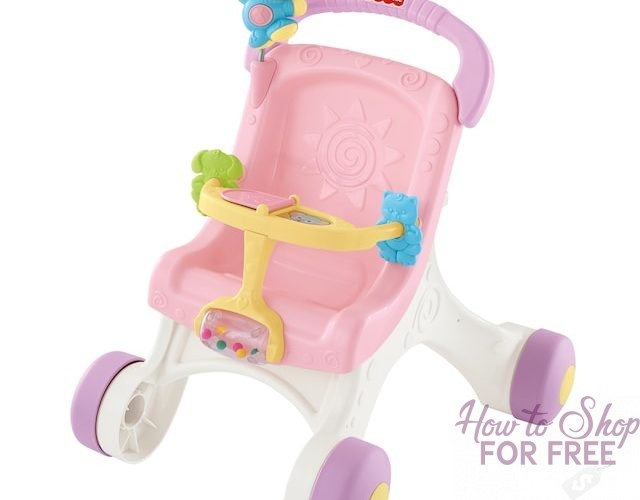 TODAY ONLY Fisher-Price Brilliant Basics Stroll-Along Walker only $17.99!