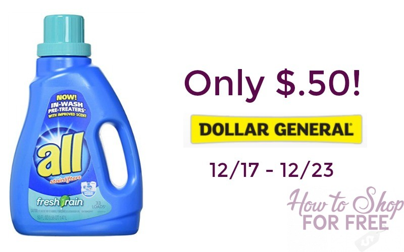 WOW! All Laundry Detergent Only $.50!!