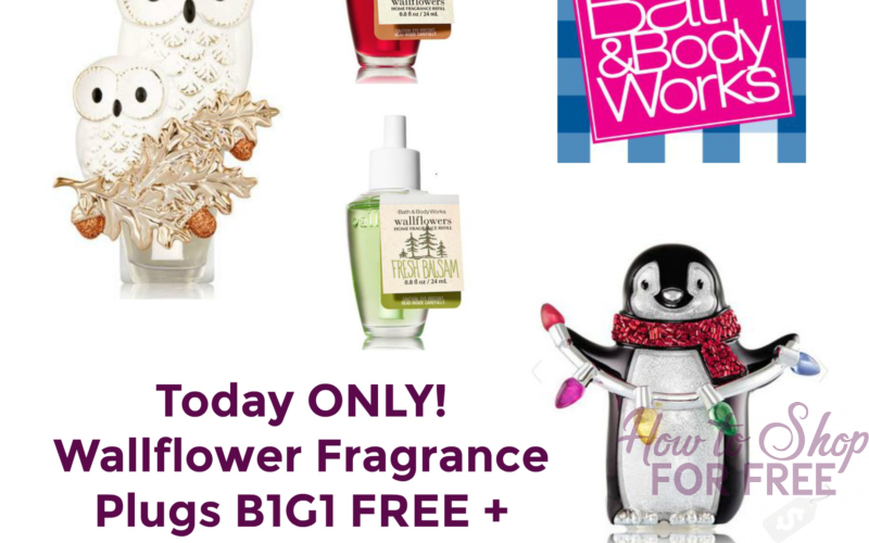 TODAY ONLY! B1G1 FREE Wallflower Fragrance Plug & Rock Bottom Price on Refills!