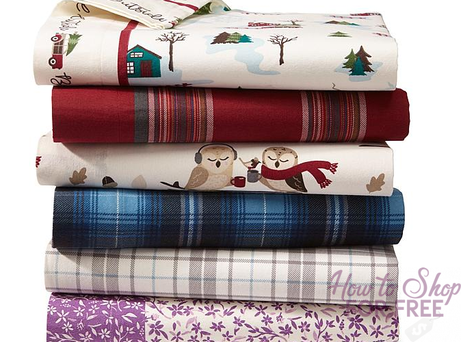 Cannon Flannel Bedsheet Set ONLY $16.19 (ALL SIZES)