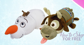FREE FREE FREE – Disney Frozen Olaf to Sven FlipaZoo 2 in 1 Plush!