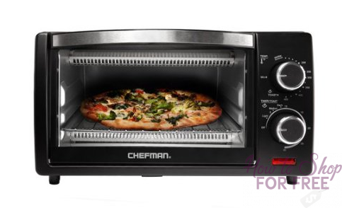 WOWZA! Chefman 4-Slice Toaster Oven ONLY $12.44 (Reg. $44) – RUN
