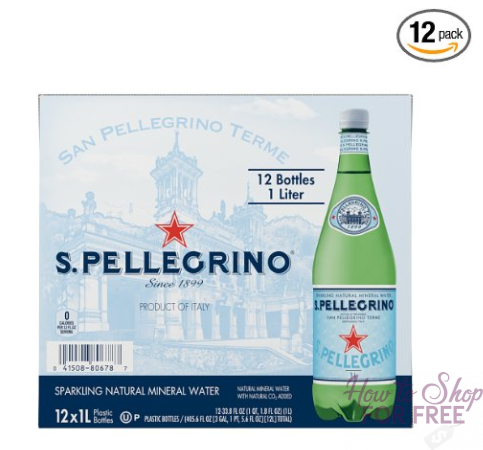 **Deal of the Day** S.Pellegrino Sparkling Natural Mineral Water, 33.8 fl oz. (Pack of 12) ONLY $11.03 (Reg. $16.28)