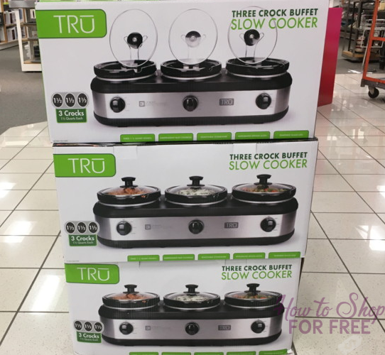 TRU Triple Slow Cooker ONLY $27.15 at Kohl's! Perfect for Holiday Dinners!