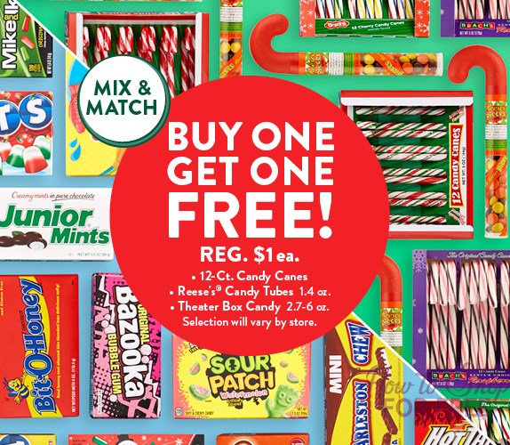 *Stocking Stuffer Alert* Buy One Get One FREE Candy! – As Low as $.35 each!