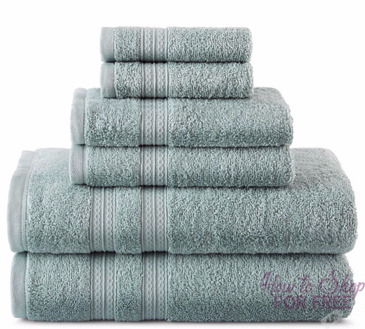 RUN! 6-pc. Solid Bath Towel Set ONLY $11.30 + Free shipping!