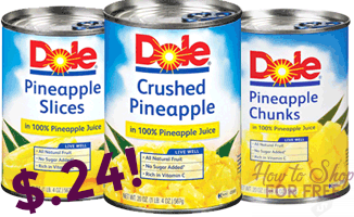 Dole Canned Pineapple only $.24 at Stop & Shop!