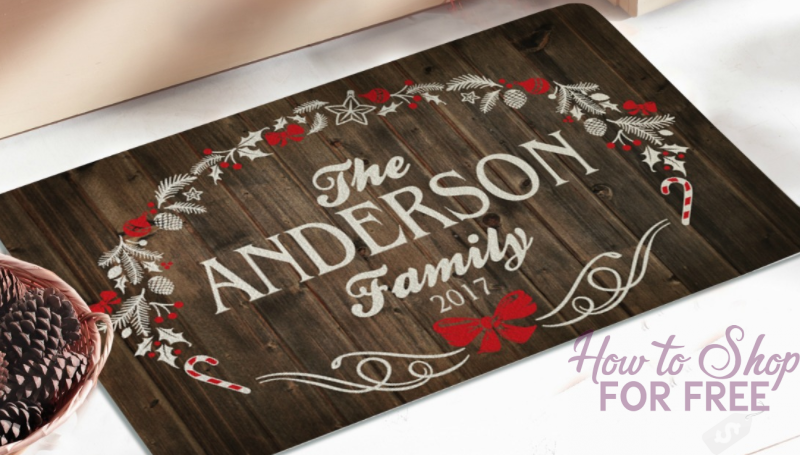 Personalized Rustic Christmas Doormat ONLY $10 (regularly $21.67)