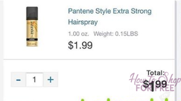 FREE Pantene Hairspray at Walgreen's!
