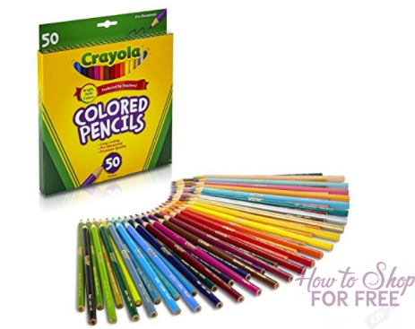 Crayola Colored Pencils, 50 Count – $3.97 ~ BEST PRICE