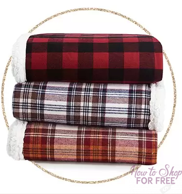 TODAY ONLY ~ Eddie Bauer Sherpa Blanket ONLY $16.99 (Reg $40)