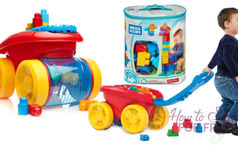 Mega Bloks Scooping Wagon AND 80-Piece Bloks Set ONLY $16.46